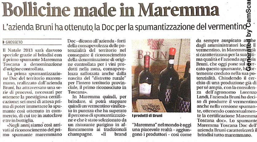 Bollicine Made in Maremma