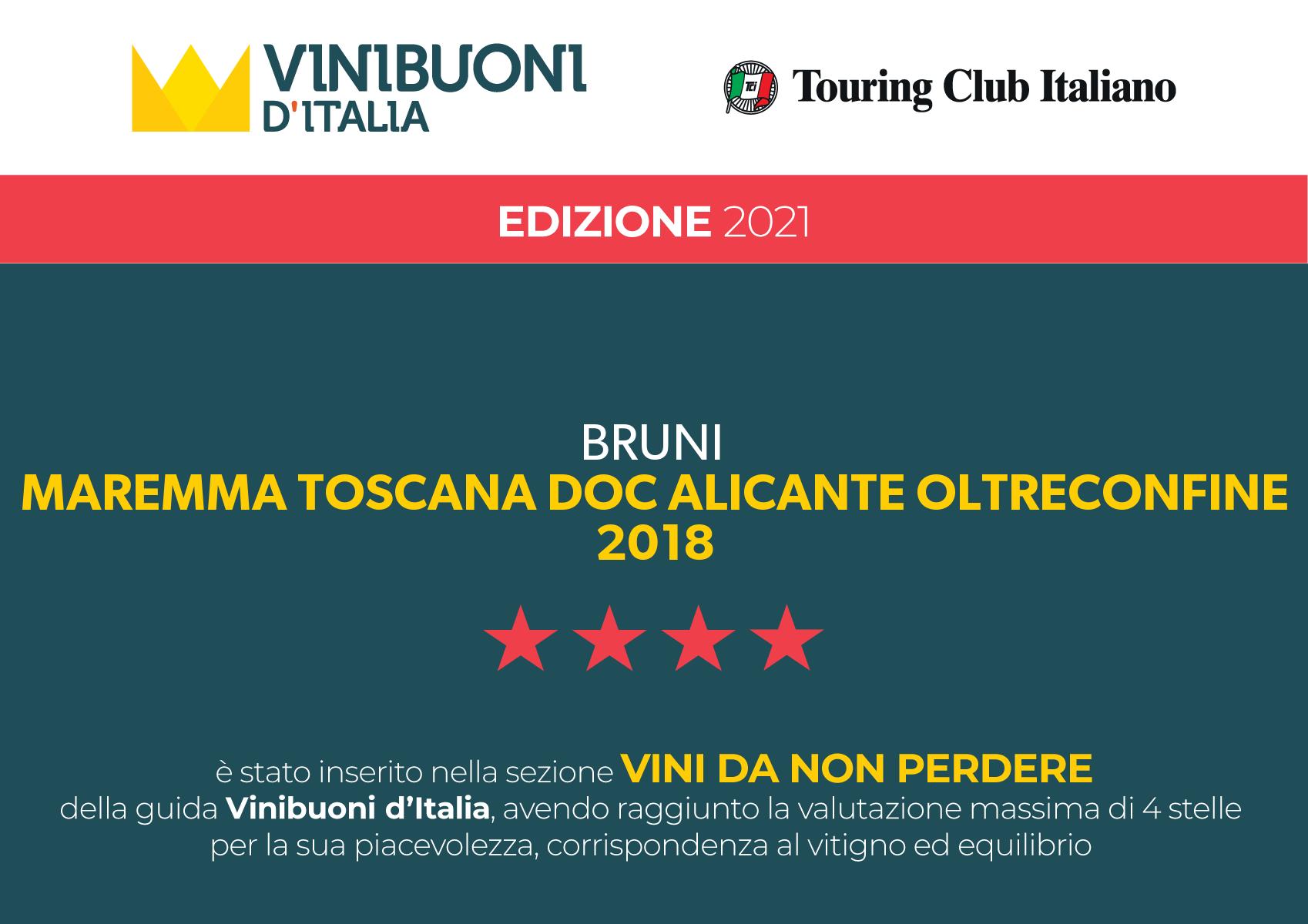 ViniBuoni D'Italia 2021 – Oltreconfine 2018